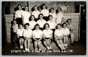 Jefferson South Dakota~Girl Scout Camp of the Hills Staff~It Rest Time~1959 RPPC