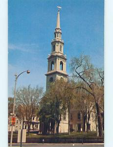 Unused Pre-1980 CHURCH SCENE Providence Rhode Island RI p3927