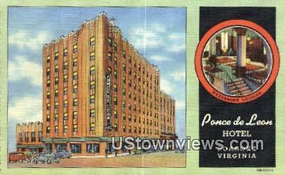 Pance De Leon Hotel Va Qq 2824 Hippostcard
