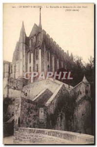 Old Postcard Mont St Michel The wonder and walls of the north coast