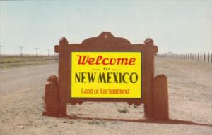 New Mexico Map Welcome Marker