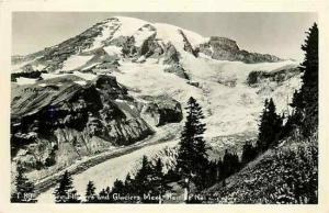 WA, Rainier National Park, Washington, RPPC,  Snow Caped Mountain, Postmark 1950