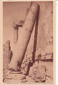 Syria Baalbek La Colonne inclinee depuis 1559 Le Temple de Bacchus