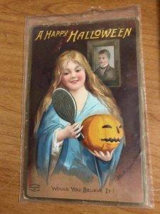 1911 Halloween Postcard - CLAPSADDLE