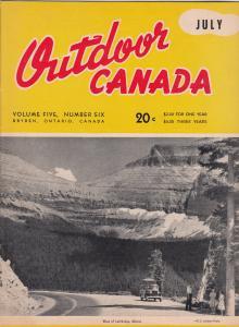 Outdoor Canada Magazine , 1949 ; Hi-Ho Yukon, Alberta Cover