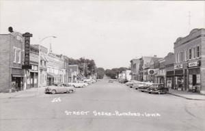 Iowa Rockford Street Scene Real Photo