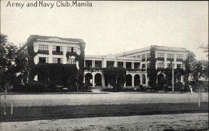 MANILA PHILIPPINES Army and Navy Club c1910 Postcard