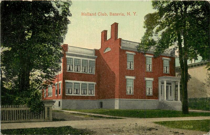 c1910 Printed Postcard; Holland Club, Batavia NY Genesee County unposted