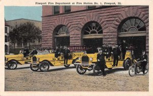 Freeport Illinois Fire Department Vintage Postcard JJ658869