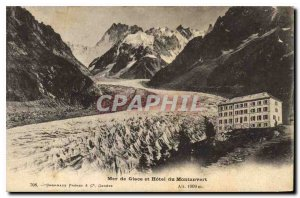 Postcard Old Mer de Glace and the Hotel Montanvert