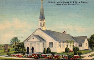 Florida Green Cove Springs St John's Chapel U S Naval Station Curteich