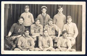 Massillon Ohio High School Baseball Team RPPC unused c1909