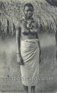 Serpent Fetish - Girl Whydah African Nude Nudes Postcard Post Card  Serpent F...