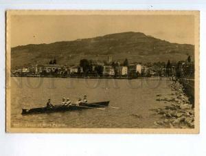 251590 SWITZERLAND VEVEY Canoeing rowing Vintage photo PC