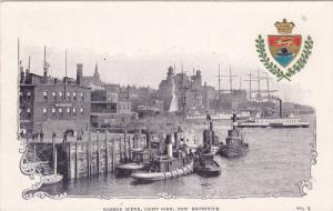 Harbour Scene, Version 2 , St John , New Brunswick , Canada , Pre-1907 Tugboats