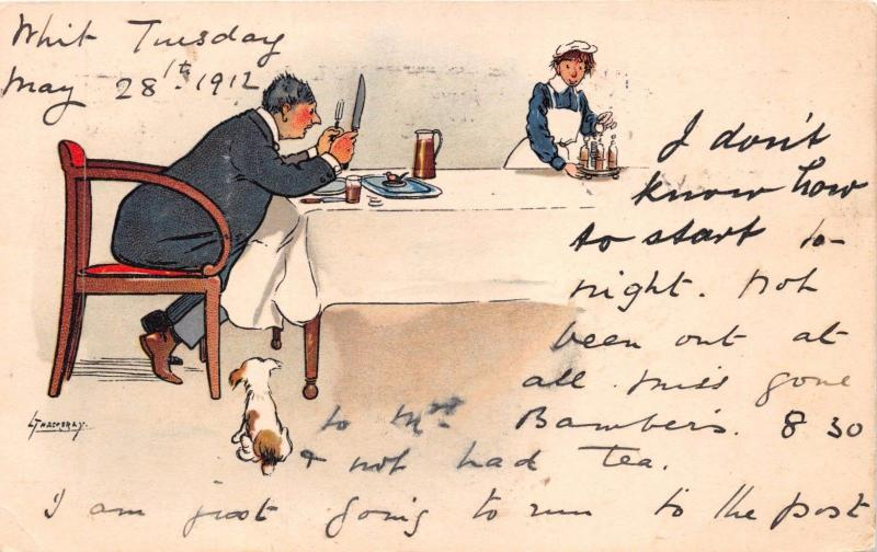LANCE THACKERY ARTIST SIGNED TUCK WRITE AWAY SERIES POSTCARD~DON'T KNOW HOW ....