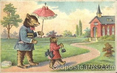 Sunday, Bears, Postcard Post Card  Sunday - Days of week