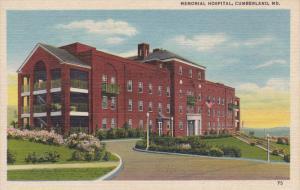 CUMBERLAND, Maryland, 1930-1940´s; Memorial Hospital