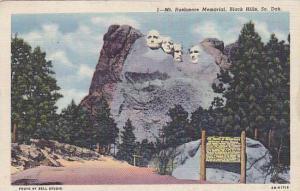 Mt. Rushmore Memorial, Black Hills, South Dakota,  PU-1949