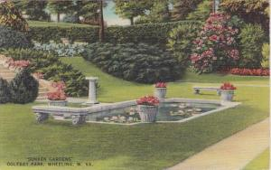 Sunken Gardens Oglebgay Park Wheeling West Virginia 1948