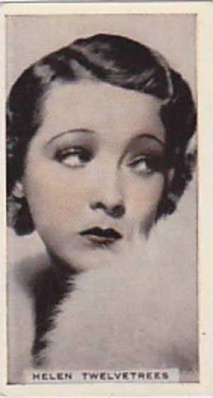 Phillips Vintage Cigarette Card Stage & Cinema Beauties 1933 No 34 Helen Twel...