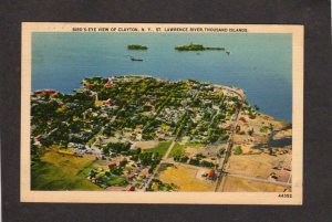 NY Clayton New York St Lawrence River Thousand Islands Postcard City View