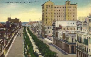 cuba, HAVANA HABANA, Paseo del Prado (1940s)