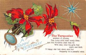 Post Card Old Vintage Antique A Happy Birthday Unused