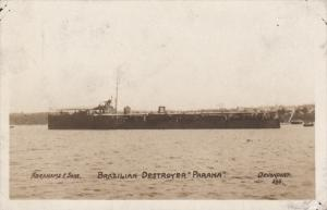 RP: Brazilian Destroyer PARANA , 1910s