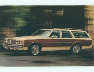 1979 postcard ad PONTIAC BONNEVILLE SAFARI STATION WAGON CAR - GM k9119