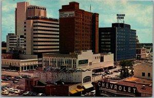Tampa, Florida Postcard Downtown Bird's-Eye View / Bank Buildings c1950s Chrome