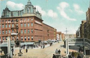 Syracuse New York~North Salina Street~Empire House~Train Stairs~Whelan Bros~1908