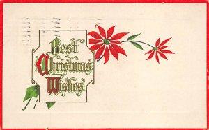 Christmas Post Card Old Vintage Antique Xmas Postcard 1916