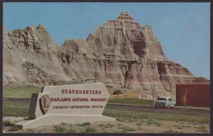 Headquarters,Badlands Mounument,SD Postcard BIN