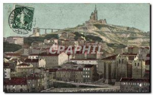 Postcard Old Marseille Hill N D of the Guard