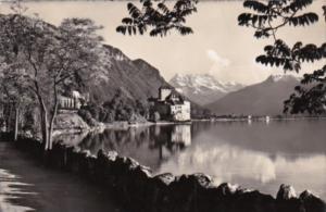 Switzerland Lac Leman CHateau de Chillon et les Dents du Midi 1946 Photo