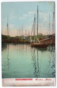 Boston, Mass, Harbor Scene