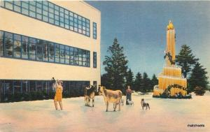 1940s Providence Rhode Island Christmas Calart Building Colorpicture 2802