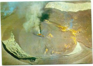 postcard Philippines - Taal Volcano - aerial view during the eruption in 1967