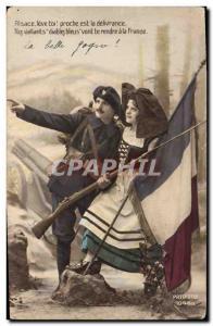 Old Postcard Militaria Alpine hunters Alsace France