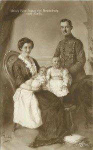 German Royalty RPPC 7423 Duke Ernst August von Braunschweig and Family, Unposted