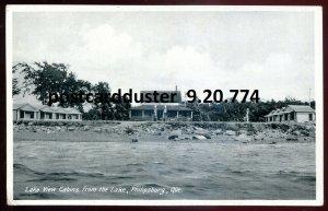 774 - PHILIPSBURG Quebec Postcard 1930s Lake View Cabins