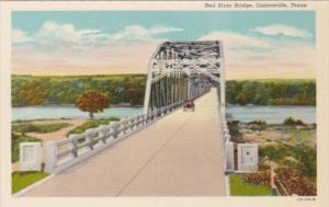 Texas Gainesville Red River Bridge Curteich