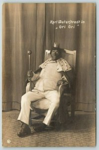 Madagascar King~German Karl Waterstradt~Gri Gri~Voodoo~Black Face~RPPC c1910
