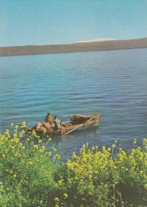 Boat, Lake of Galilee, View to Mt. Hermon, Israel, 1960-70s