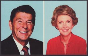 President Reagan,Nancy Postcard