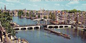 Netherlands Amsterdam Meagre Bridge Across  The Amstel