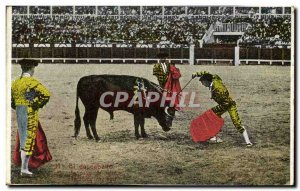 Old Postcard Bullfight Bullfight El dascabello