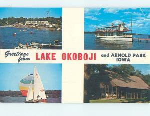 Pre-1980 PARK SCENE Arnolds Park - Near Spirit Lake Iowa IA hk6756