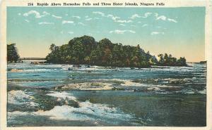 Niagara Falls New York~Rapids Above Horseshoe Falls And Three Sister Island~1920